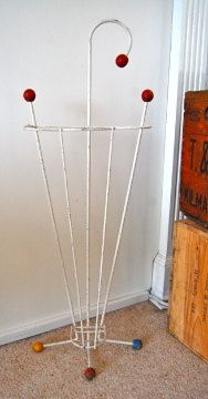 Vintage Atomic Gumball Umbrella Stand by yellowvintageshop, Vintage Stuff, Retro Vintage, Vintage Items, 50s Furniture, Umbrella Stands, Vintage Home Accessories, 1950s Decor, Umbrellas Parasols, Atomic Age