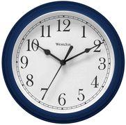 "Westclox 46985 8-1/2"" Wall Clock w/ Dark Blue Casing - Wall Clocks - Atomic, Analog, Digital, & Temperature Clocks"