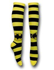 Batman Black/Yellow Striped Knee-High Socks $8.99