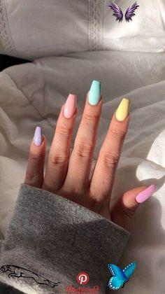 <br> Fancy Nails, Cute Nails, Acrylic Nail Designs, Nail Art Designs, Nail Art Transparent, Nail Shapes Squoval, Sns Nails Colors, Gel Nails, Summer Acrylic Nails