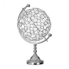Put a glimmering accent up with our Crystal Stones Metal Globe. The silver metal stand and crystal globe look will stand out on your shelf or mantel. Discount Home Decor, Blue Ridge, Stones And Crystals, Decorative Pillows, Metal, Silver, Globes, Living Room, Decorative Throw Pillows