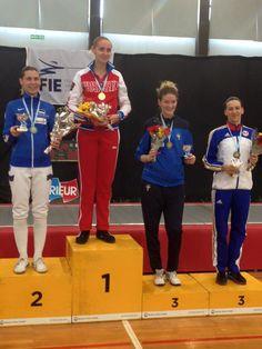 "Buenos Aires ""Jockey Club Argentino"" 2016 podium: Gold Violetta KOLOBOVA (RUS), Silver Irina EMBRICH (EST), Bronze Emma SAMUELSSON (SWE) and Simona GHERMAN (ROU)"