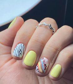 Gel Polish Designs, Nail Art Designs, Mani Pedi, Pedicure, Cute Gel Nails, Nail Art Photos, Abstract Nail Art, Gelish Nails, Pretty Nail Art