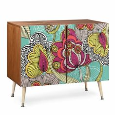 East Urban Home 2 Door Accent Cabinet Funky Furniture, Painted Furniture, Living Room Furniture, Repurposed Furniture, Unique Furniture, Furniture Projects, Furniture Makeover, Furniture Decor, Buffet