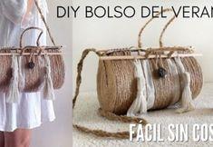DIY Bolso del verano con cuerda Diy Straw, Straw Bag, Diy Jute Bags, Diy Y Manualidades, Ethnic Bag, Jute Crafts, Diy Handbag, Macrame Bag, Handmade Purses