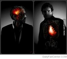 House's head & Wilson's heart. This gives me an inexplicably large amount of feels...