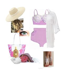"""""""Ready for Summer"""" by blanche-langenbach ❤ liked on Polyvore featuring Beauty & The Beach, Vera Bradley, Sun Bum, Privilege and Forever 21"""