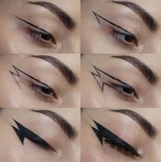 zodiac signs as eyeliner . eyeliner according to zodiac sign . eyeliner for zodiac signs . Maquillage Goth, Maquillage Halloween, Halloween Makeup, Halloween Face, Makeup Inspo, Makeup Art, Makeup Inspiration, Makeup Ideas, Makeup Style