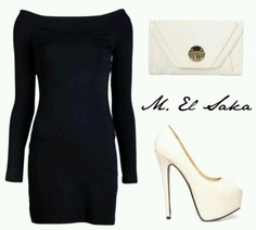 Little Black Dress... Where were these shoes when I was looking for white pumps for my wedding?! LoL