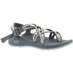 Chaco ZX/2 Classic Women's Grey Sandal 11 M ($105) ❤ liked on Polyvore featuring shoes, sandals, grey, chaco sandals, strap sandals, gray sandals, gray strappy sandals and grey sandals