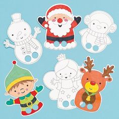 Buy Christmas Colour-in Finger Puppets at Baker Ross. Take these cool Christmas characters for a walk in the spotlight! Christmas Paper, Christmas Love, Christmas Colors, Christmas Crafts, Xmas, Hand Puppets, Finger Puppets, Art For Kids, Crafts For Kids