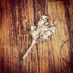 Rustic Twine and Baby's Breath Boutonniere by MintageDesigns, $7.50