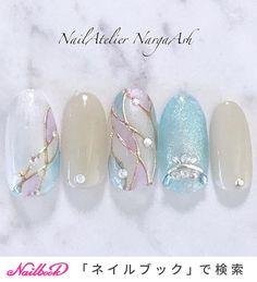Korean Nail Art, Korean Nails, Japanese Nail Design, Japanese Nail Art, Chic Nails, Stylish Nails, Nail Swag, Fancy Nails, Bling Nails