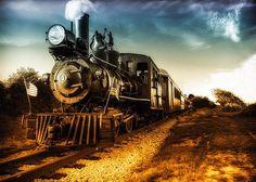 Vintage Train Locomotive Number 4 Narrow Gauge Railroad Portland, Maine. Original fine art color railroad steam engine train landscape photography by Bob Orsillo.   Copyright (c)Bob Orsillo / http://orsillo.com - All Rights Reserved.  Buy art online.  Buy photography online