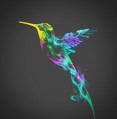 humming bird smoke tattoo