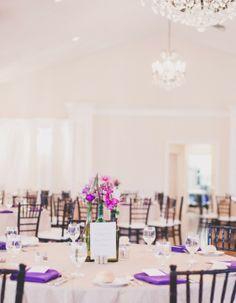 #purple #wedding #table decor