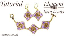 #МК - Серьги с применением бисера твин | #Tutorial - Earrings with beads...