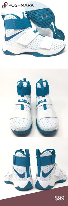 43352b0dade Nike Lebron Soldier 10 White Blue Size 11.5 Rare! Great Item! Next Day  Shipping