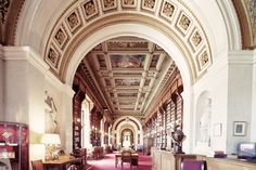Franck Bohbot (1980- ), French / The Bibliothèque du Sénat (Bibliotheque du Senat) (Senate Libreary), Paris, France, 2012 ... inside the 17th century Luxembourg Palace, refittdd in early 1800s as a legislative building