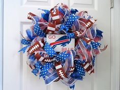A personal favorite from my Etsy shop https://www.etsy.com/listing/398959793/buffalo-bills-wreath-bills-wreath-deco