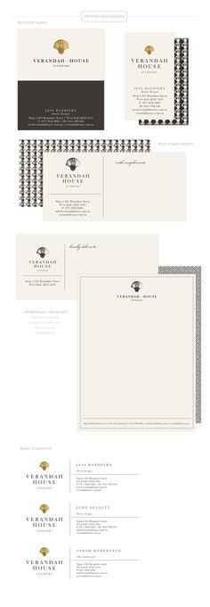 Branding Design for Verandah House | Branding, Logo, Interior Designer Branding  |  www.EmilyMcCarthy.com