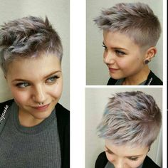 Love the color, and her face is similar to mine. Maybe in time I will have the courage to get this done.!
