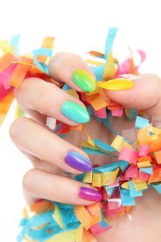 » Rainbow Ombre Nail Art Tutorial On Brit + Co