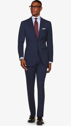 Suit Navy Check Havana P5410i | Suitsupply Online Store