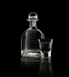 Gran Patron Platinum - The world's finest platinum tequila. Triple distilled then aged to perfection, it is a true connoisseurs silver tequila. This is the smoothest sipping tequila ever produced. Cocktail Desserts, Cocktails, Sipping Tequila, Patron Tequila, Silver Tequila, Photos For Facebook, Tequila Shots, Glitter Graphics, Wine And Spirits