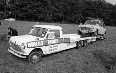 mini cooper on a mini truck
