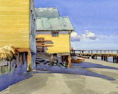 Boat School by Mike Kowalski Watercolor ~ 8 x 10