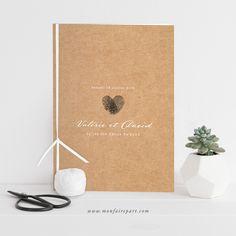 Livret de messe mariage vintage qui séduira vos invités avec son esprit champêtre et tendance, ref N49107
