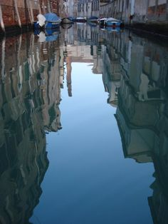 Venice water reflection