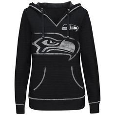 Women's Seattle Seahawks College Navy Crossblock Pullover Sweatshirt