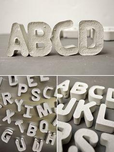 DIY: Concrete letters