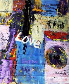 LIFE IS LOVE Semi abstract, Acryl mixed media on canvas, x 2011 In Robbert Enfield Contemporary Art Gallery Mixed Media Canvas, Contemporary Art, Art Gallery, Abstract, Artwork, Painting, Life, Inspiration, Summary