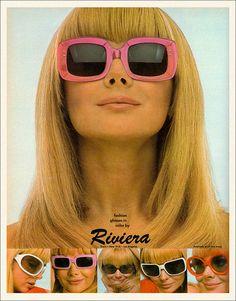 Riviera sunglasses advertisement, 1967