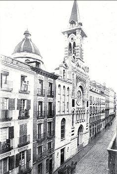 1911. Calle de Valverde. La iglesia de Nuestra Señora de la Consolación y el Oratorio del Espíritu Santo (desaparecidos) | Flickr: Intercambio de fotos