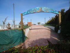 Arco Calypso Gardens.  Vista de Jardín de Fiestas Calypso Gardens