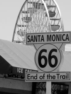 Route 66 end Santa Monica Route 66 Usa, Old Route 66, Route 66 Road Trip, Historic Route 66, Travel Route, Travel Usa, Travel Oklahoma, Santa Monica, West Usa
