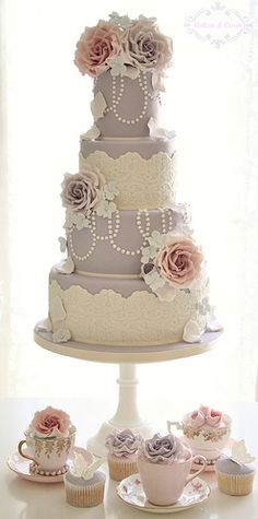 Vintage Couture wedding cake-Kayla I thought you might like this one