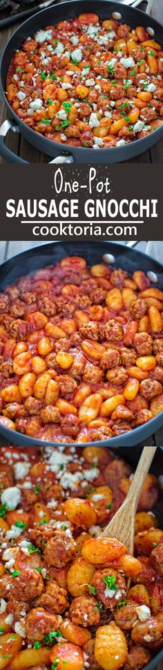 Made with just 4 ingredients in less than 30 minutes, this One Pot Sausage Gnocchi is a simple, yet filling and tasty dish that the whole family will enjoy! ❤ COOKTORIA.COM