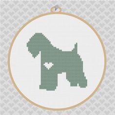 Wheaten Terrier Silhouette Cross Stitch PDF Pattern by kattuna, $3.50