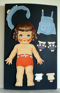 1938 Vintage Antique Whitman Big Paper Doll 951 Queen Holden The Darlikin Dolls