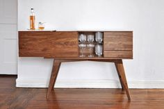 the Urbancase and Teroforma collaboration. The collaboration includes a selection of beautiful barware and two well-crafted liquor cabinets that complement one another