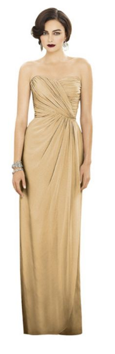 Venetian Gold bridesmaids mix and match dresses