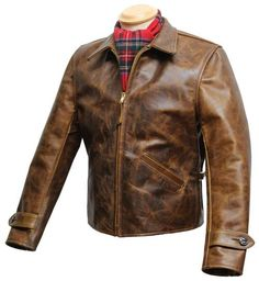 August - A Lightweight Half Belted Jacket - Aero Leathers, Scotland, UK Men's Leather Jacket, Leather Men, Leather Jackets, Vintage Leather, Jacket Style, Vest Jacket, Leather Fashion, Mens Fashion, Dapper Suits
