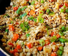 Recipe: Fried rice of cauliflower. Paleo Cauliflower Fried Rice, Cauliflower Vegetable, Paleo Rice, Vegetable Fried Rice, Cauliflower Recipes, Ww Recipes, Cooking Recipes, Grilled Eggplant, Low Sodium Soy Sauce