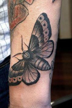 25+ Simple Moth Tattoos