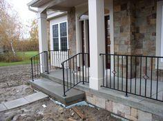 Wrought Iron Porch Railings | Custom Metal & Wrought Iron Railings - Harris Metal Design